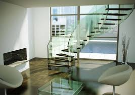 Glass Handrails For Stairs 22 Sleek Glass Railings For The Stairs Home Design Lover