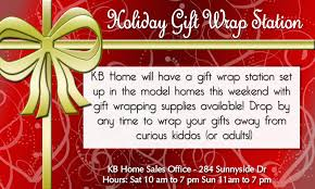 present wrapping station kb homes waterleaf falls
