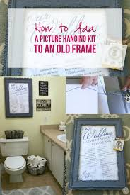 how to add a picture hanging kit to an old frame happily ever