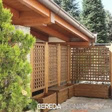 tettoia autoportante pareti laterali per tettoie in legno grigliati autoportanti con