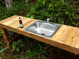 How To Build A Outdoor Kitchen Island Outdoor Kitchen Sink No Plumbing Plumbing For An Outdoor Kitchen