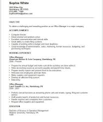 Nurse Manager Resume Objective Objective For Resume