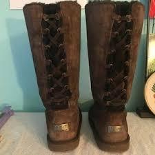 ugg boots womens tularosa chestnut lace up s ugg lace up boots on poshmark
