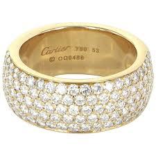cartier design rings images Cartier classic 5 row diamond band ring 18 karat yellow gold jpg