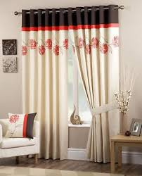 Chocolate Curtains Eyelet Pandora Floral 46 X 90 Ready Made Lined Eyelet Curtains