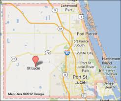port st fl map st county florida map
