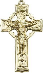 celtic crucifix celtic crucifix gold filled large medal 1 1 4in x 7 8in