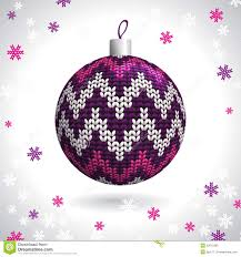 knitted christmas ball stock photo image 32613390