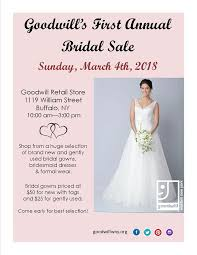 wedding dress on sale goodwill to hold annual bridal sale goodwill of western
