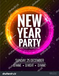 new year party christmas party poster stock vector 530002966