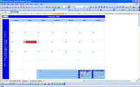 monthly planner template excel budget template free