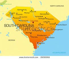 south carolina beaches map south carolina map stock images royalty free images vectors