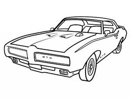 muscle cars drawings team muscle car drawing outline yahoo