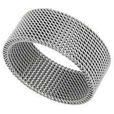 surgical steel band surgical stainless steel 10 mm mesh ring wedding band sizes 5