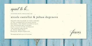 Plantable Wedding Invitations Wedding Invitation Wording With Ceremony And Reception Yaseen For