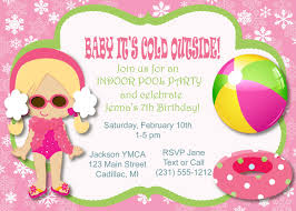Invitation Card For Pool Party Winter Pool Party Invitations Thebridgesummit Co