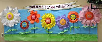 Preschool Bulletin Board Decorations When We Learn We Grow Spring Bulletin Board