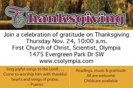 thanksgiving gratitude service all are welcome church