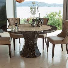 ravelli round single column 1 3m or 1 5m marble dining table