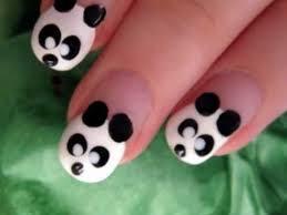 cute u0026 easy panda nail art youtube