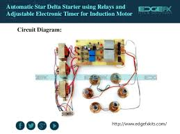 automatic star delta starter using relays and adjustable electronic t u2026