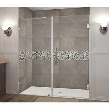 shower door contractors vigo 60 in x 74 in frameless bypass shower door in stainless