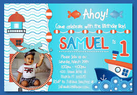 baby boy 1st birthday invitation aponte