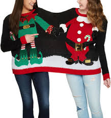 and santa two person sweater royal family