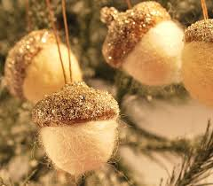 glittering felted acorn ornaments by annabellearts cre8ive fall