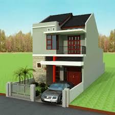 desain rumah 2 lantai minimalis terbaik untuk lahan ukuran sempit
