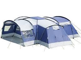 tente 8 places 4 chambres skandika nimbus tente camping familiale 12 pers 4 cabines bleu