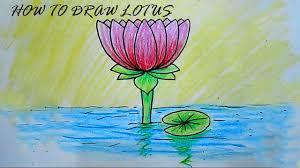 lotus drawing youtube
