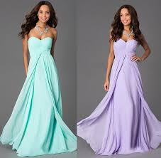 dress to party 2015 new lilac and mint green bridesmaid dresses chiffon empire