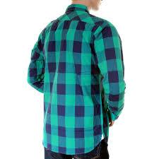scotch u0026 soda mens green and blue 1204 08 20011 big check shirt