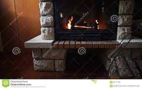 close up of burning fireplace at home stock footage video 63771248
