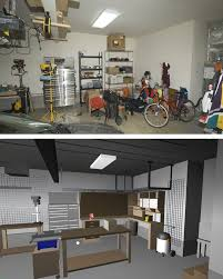 garage shop corner l shape workbench design woodworking talk designs that i was fiddling with trying to find a good one to move forward on photos are to show the location relative to the rest of the shop