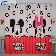 Micky Mouse Curtains by Window Curtain Curtains Fabric Blanket Ba Buy Mickey And Minnie