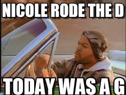 Nicole Meme - nicole rode the dick ice cube meme on memegen