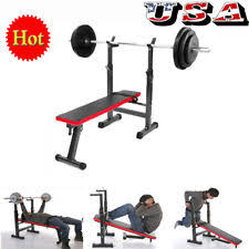 Jr Weight Bench Set Bench Press Ebay
