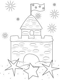 Sand Castle Coloring Page Stock Illustration Image Of Closeup Sandcastle Coloring Page