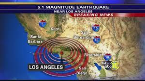 Earthquake Map Los Angeles by Magnitude 5 1 Earthquake Shakes Los Angeles Area Abc30 Com