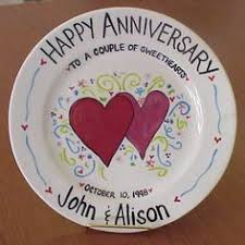 anniversary plates personalized the modern monogrammed collection 8 plate personalized with name