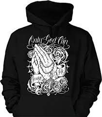 amazon com only god can judge me hoodie hooded sweatshirt praying