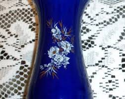 Antique Cobalt Blue Vases Cobalt Blue Vase Etsy