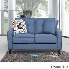 Plush Sofa Bed Loveseat Sofa Bed Futon Sleeper Lounge Blue Plush Lazy