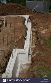 new home poured wall using high tech insulating concrete forms