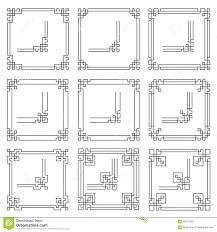 vector frames borders art deco style stock vector image 65010309