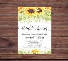 Sunflower Bridal Shower Invitation Sunflowers Bridal Shower  Etsy