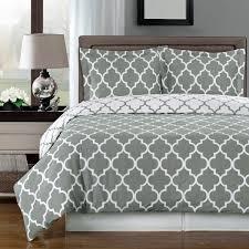 meridian gray 100 egyptian cotton duvet cover set