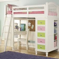 acme 10970 willough white kids twin loft bed with desk dhp